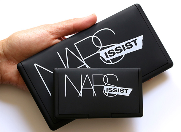 NARS NARSissist Cheek Palette on the top and Eyeshadow Palette on the bottom