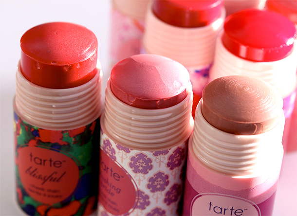 Tarte Cheek Stains from the left: Blissful, Blushing Bride and Exposed