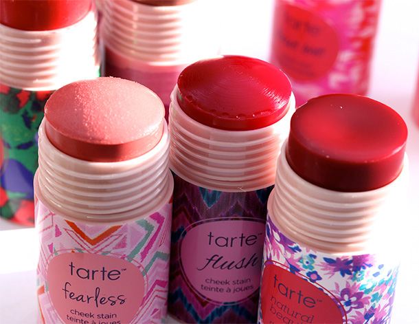 Tarte Cheek Stains from the left: Fearless, Flushed and Natural Beauty