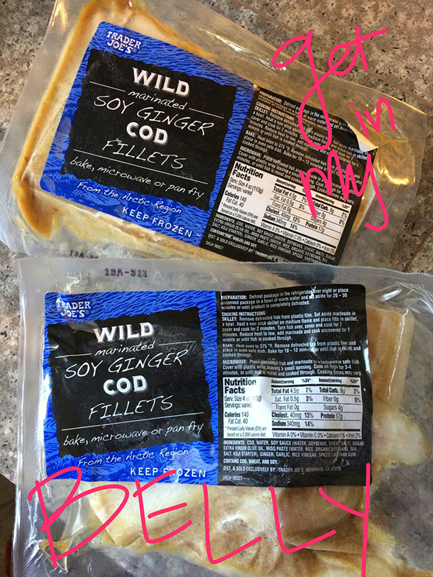 Trader Joe's Wild Marinated Soy Ginger Cod Fillets