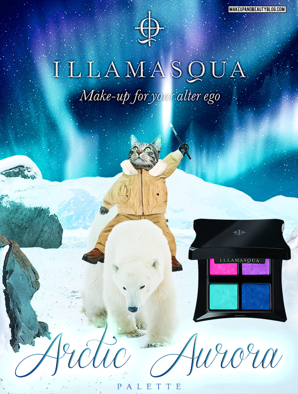 Tabs the Cat for the Illamasqua Arctic Aurora Palette