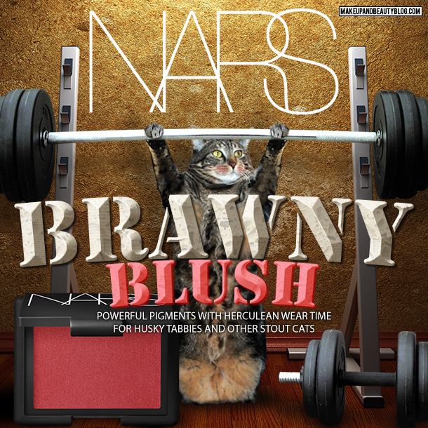 Tabs the Cat for NARS Brawny Blush
