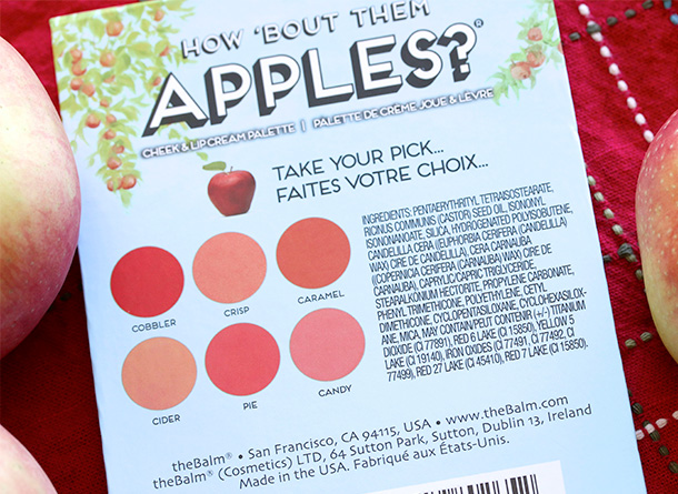 theBalm How Bout Them Apples Ingredients