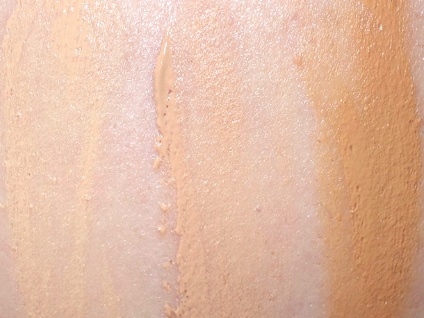 02 Light, 04 Medium and 06 Deep Biege swatched on NW25 skin
