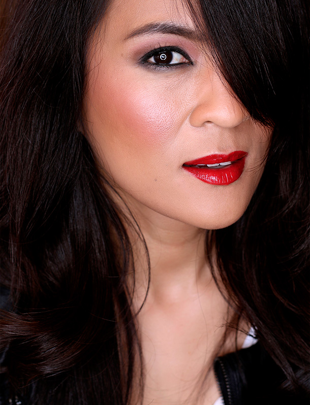 Illamasqua's Fiesty Coloring Pencil, Maneater Lipstick and Touch Intense Lipgloss