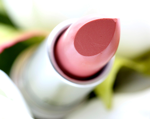MAC Fleur D'Coral Lipstick, a pale creamy peach with a Lustre finish