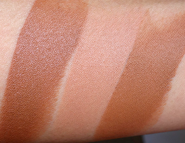 NARS Matte Multiple Collection Swatches from the left: Cappadoce, Altai and Vientiane