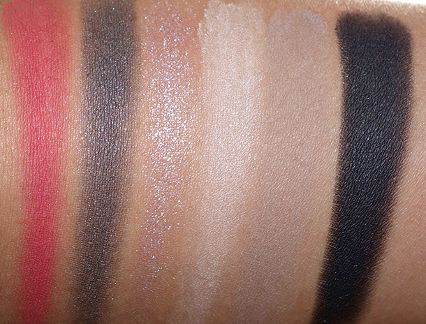 NYX Sex Bomb Shadow Palette Swatches