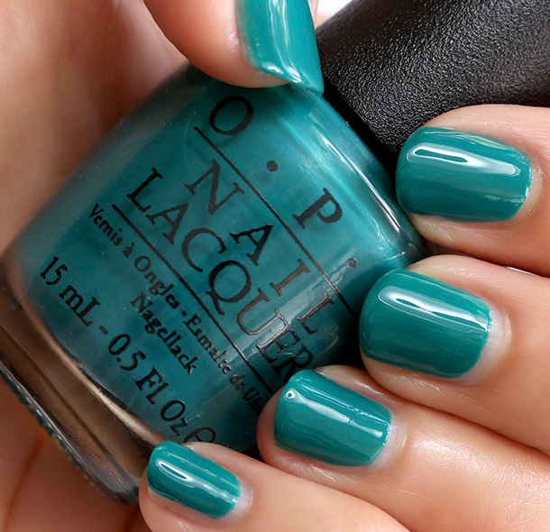 OPI AmazON...AmazOFF, a creamy deep jungle green