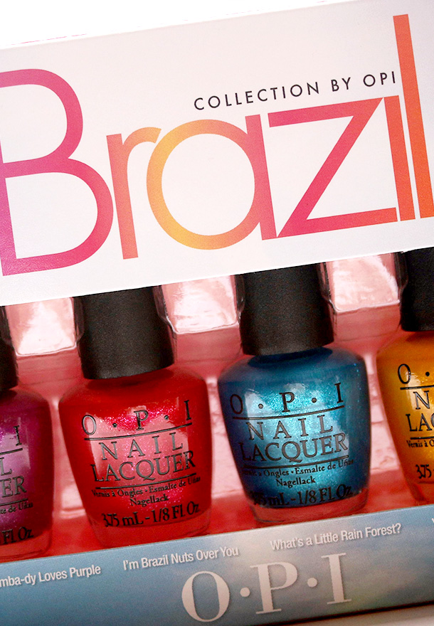 The new four-piece OPI Brazil Beach Sandies Mini Kit