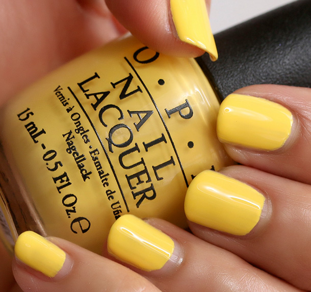OPI I Just Can't Cope-Acabana, a creamy sunshine yellow