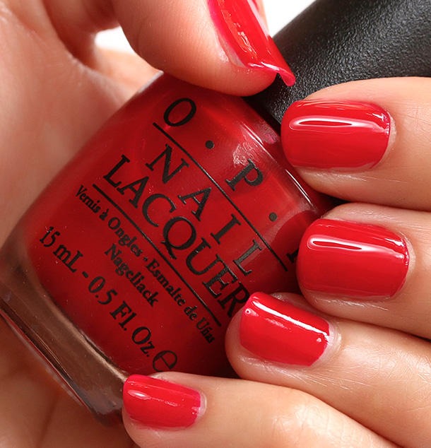 OPI Red Hot Rio, a ruby red