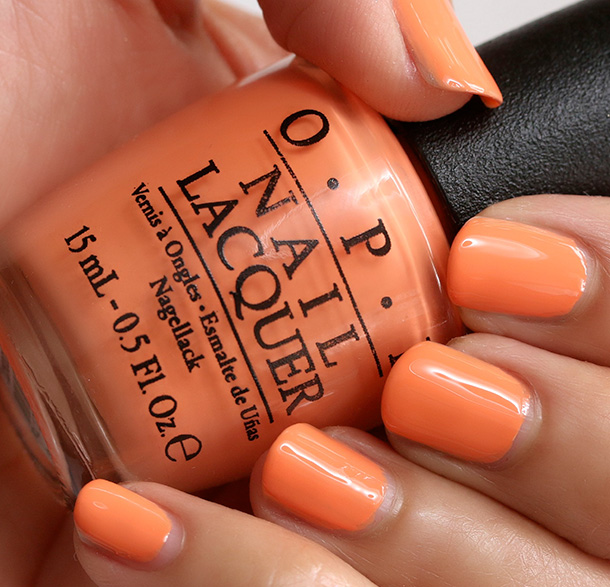OPI Where Did Suzi's Man-Go?, a creamy mango orange