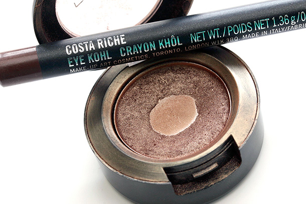 MAC Woodwinked Eye Shadow and Costa Riche Eye Khol
