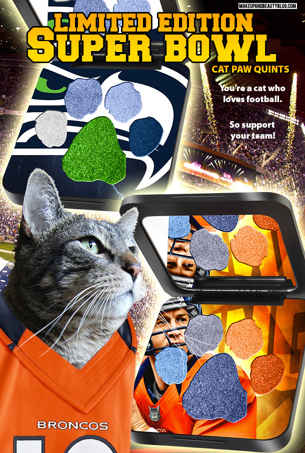 Tabs the Cat for New Limited Edition Super Bowl Cat Makeup Palettes