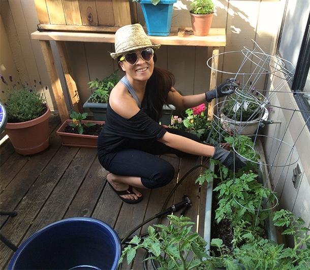 That's me gardening!