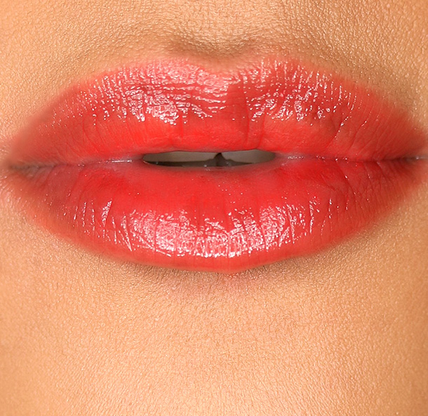 MAC Patentpolish Lip Pencil in Berry Bold, an orangey red