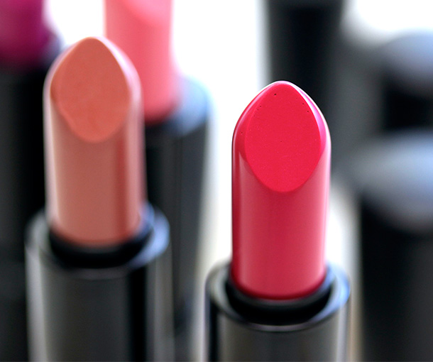 MAC Mineralize Lipstick in Good Taste, a fuchsia pink