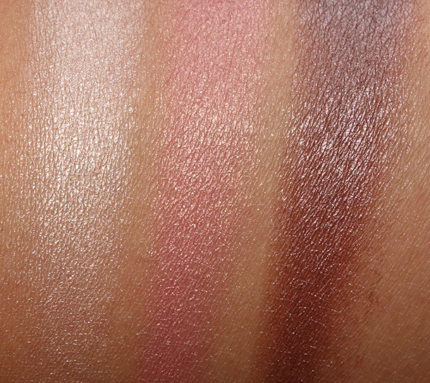 Too Faced A La Mode Eyes Palette swatches from the left: Riviera, Jardin and Cote d'Azur
