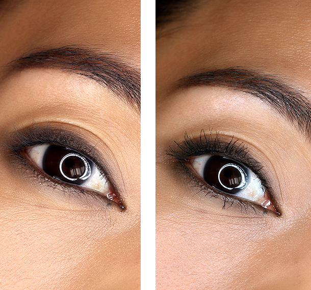 Clinique Lash Power Feathering Mascara Before and After