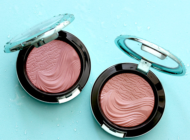 MAC Extra Dimension Blushes in Sea Me, Hear Me (left) and Seduced at Sea (right)