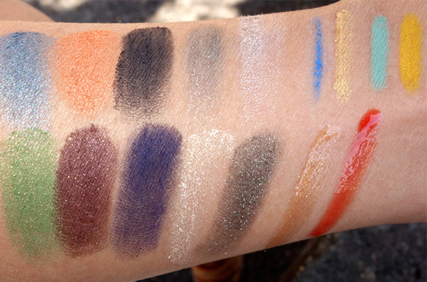 Smashbox Santigolden Age Collection swatches all