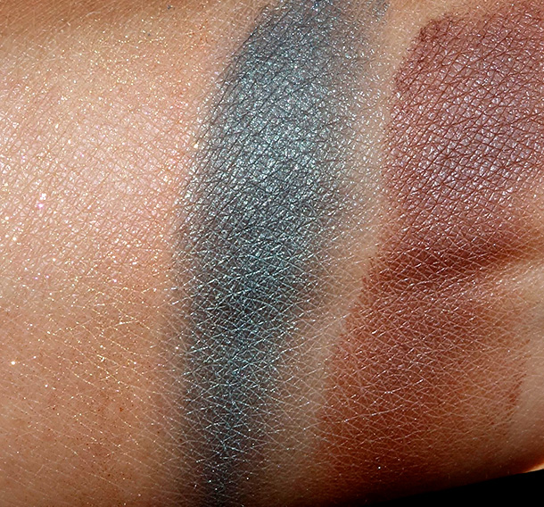 Too Faced Pardon My French Swatches from the left: Sunbeam, Mermaid and Toasted Coconut