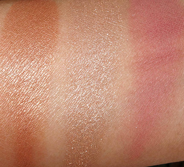 Urban Decay Naked Flushed in Strip Swatches
