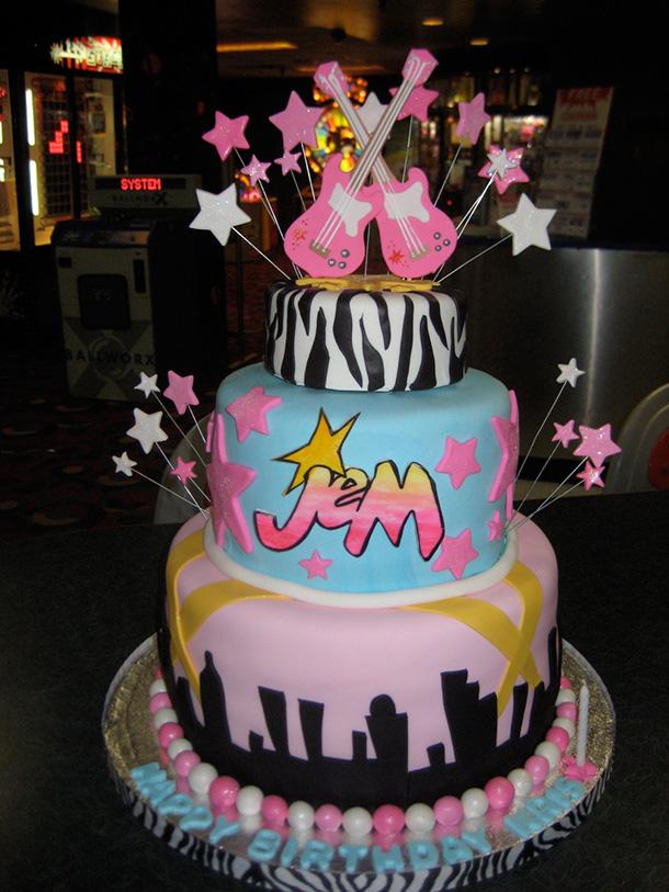 Via Byrdie Girl Custom Cakes