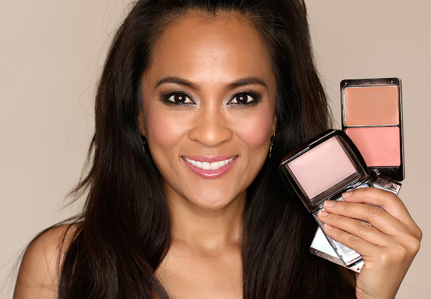 Hourglass Illume Creme to Powder Duo in Sunset + Ambient Lighting Powder in Mood Light