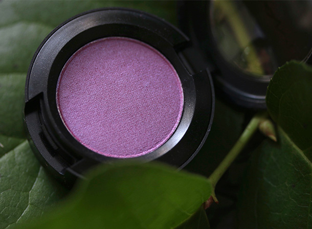 MAC Frost Eye Shadow in Blooming Mad, a mid-tone ultra violet