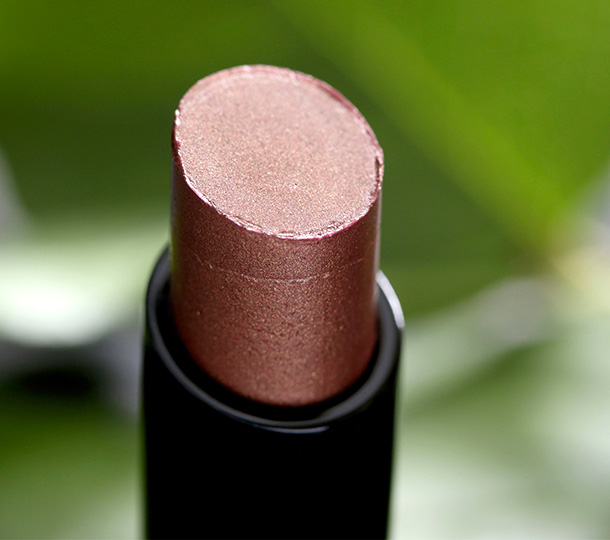 MAC Sheen Supreme Lipstick in Moody Bloom, a bronze plum