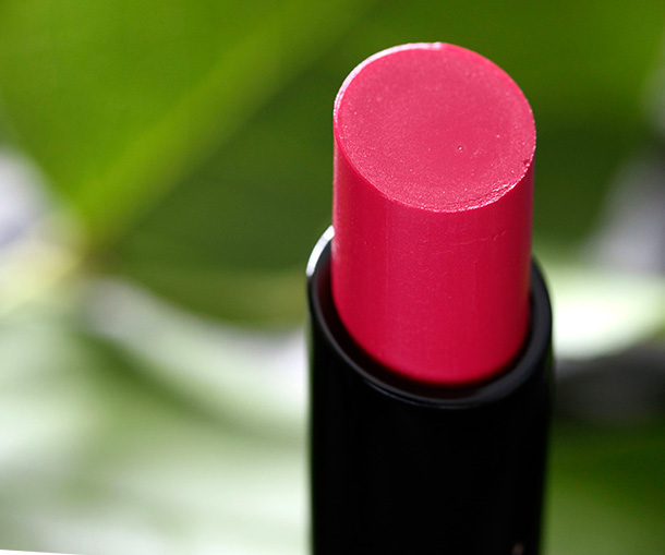 MAC Sheen Supreme Lipstick in Pheromonal, a dark blueish pink