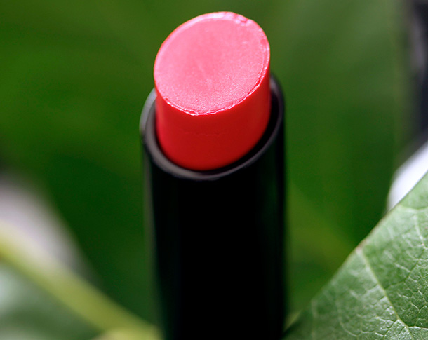 MAC Sheen Supreme Lipstick in Phosphorescent, an electric pinkish coral