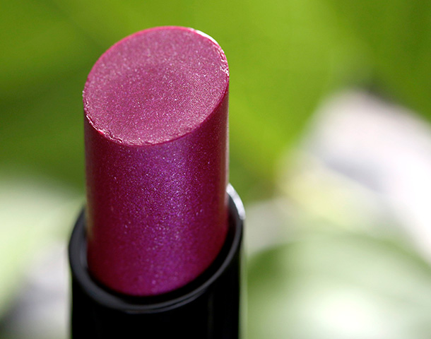 MAC Sheen Supreme Lipstick in Quite the Thing!, a deep blueish plum