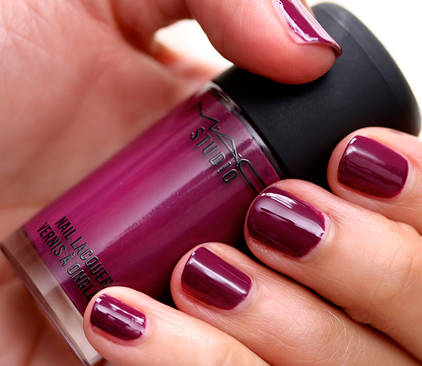 MAC Studio Nail Lacquer in Rebel Swatch