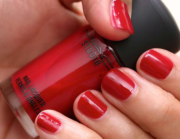 MAC Nail Lacquer in Sour Cherry Swatch