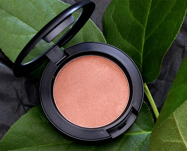 MAC Powder Blush in Worldly Wealth, a shimmering peachy bronze