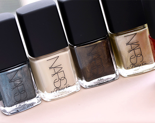 NARS 3.1 Phillip Lim shades from the left: Wrong Turn, Anarchy, Insidious and Gold Viper