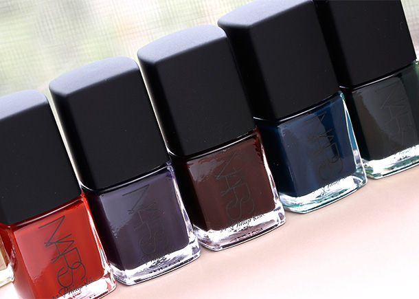 NARS 3.1 Phillip Lim shades from the left: Hell-Bent, Crossroads, Other Side, Dark Room and Shutter