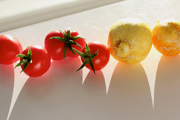 Tomatoes and Lemon Cucumbers (1)