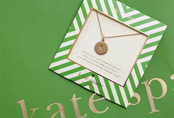 Kate Spade One in a Million Initial Pendant Necklace (4)