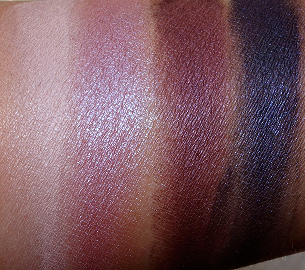 MAC A Passionate Quest Quad Swatches