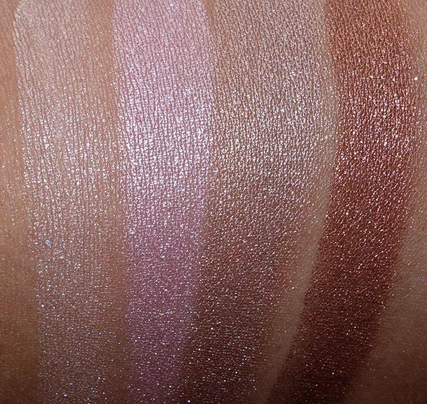 MAC Electric Cool Eye Shadows in Pure Flash, Love Power, Superwatt and Coil