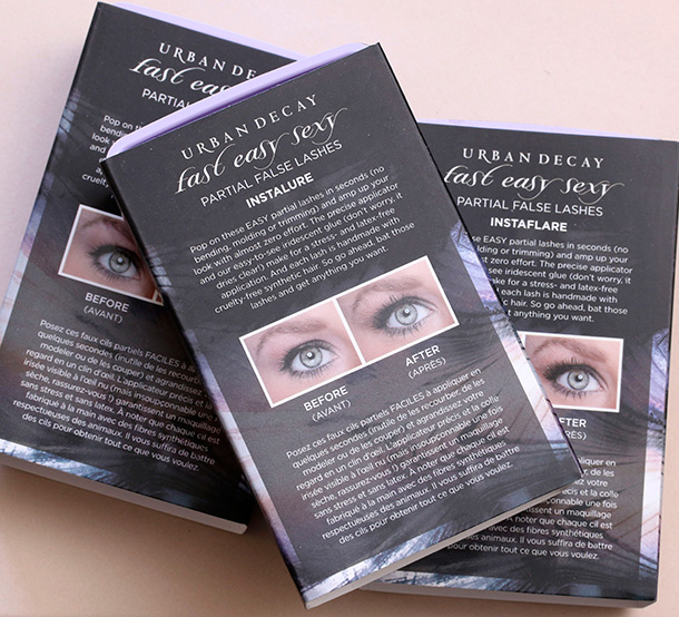 Urban Decay Fast Easy Sexy Partial False Lashes box back