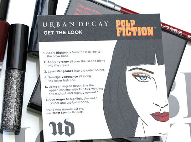 Urban Decay Pulp Fiction Collection Palette card