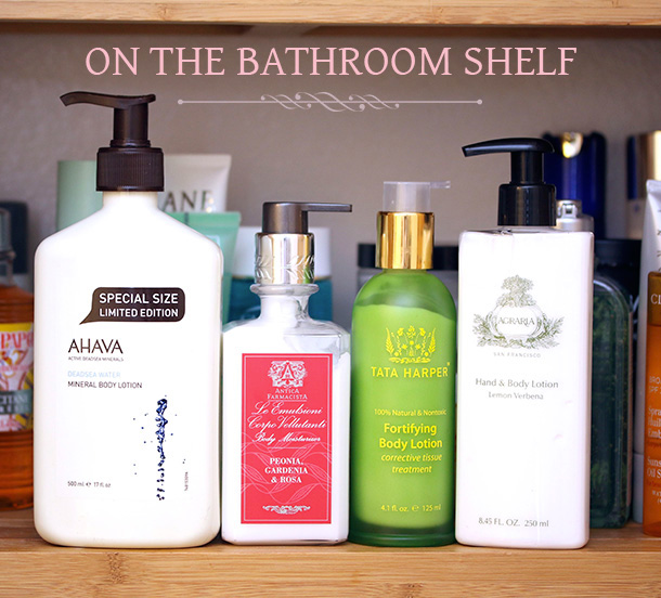 On the bathroom shelf