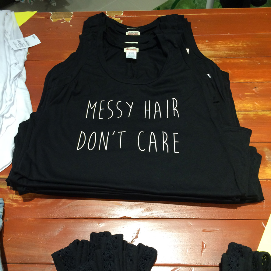 Messy Hair Don't Care Ten Sixty Sherman tank, $22, Nordstrom