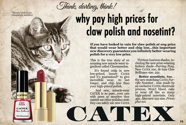 Tabs the Cat for CATEX Claw and Nosetint