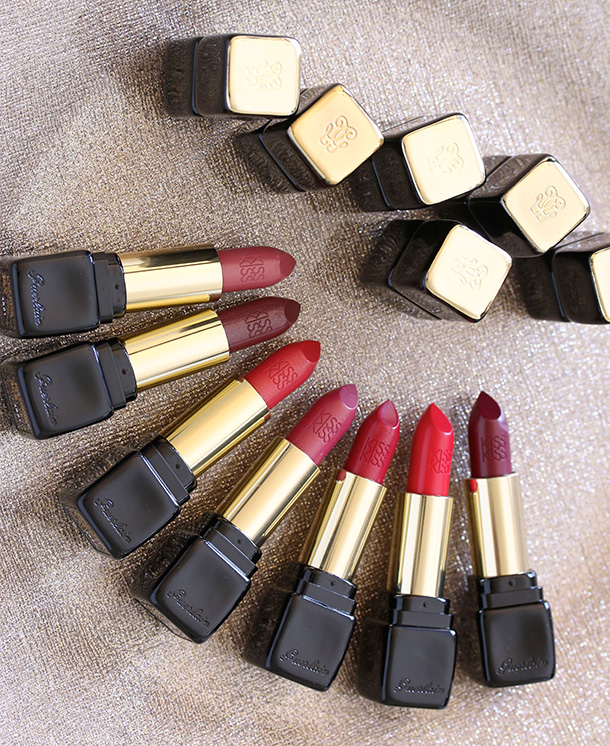 7 of the 25 new Guerlain KissKiss Lipsticks, $37 each